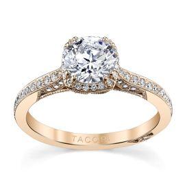 Tacori 18k Rose Gold Diamond Engagement Ring Setting 1/4 ct. tw.