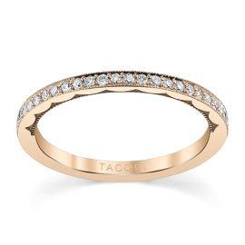 Tacori 18k Rose Gold Diamond Wedding Band 1/6 ct. tw.