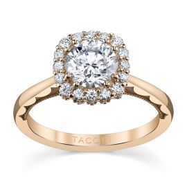 Tacori 18k Rose Gold Diamond Engagement Ring Setting 1/3 ct. tw.