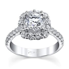 Coast Diamond 14k White Gold Diamond Engagement Ring Setting 3/4 ct. tw.
