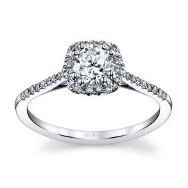 Coast Diamond 14k White Gold Diamond Engagement Ring Setting 1/8 ct. tw.