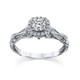 RB Signature 14k White Gold Diamond Engagement Ring Setting 1/4 ct. tw.