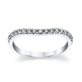 14k White Gold Diamond Wedding Band 1/5 ct. tw.