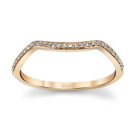 Simon G. 18k Rose Gold Diamond Wedding Band .06 ct. tw.