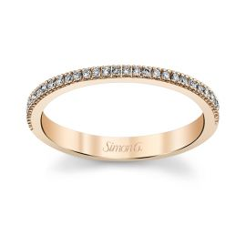 Simon G. 18k Rose Gold Diamond Wedding Band 1/6 ct. tw.