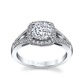 Coast Diamond 14k White Gold Diamond Engagement Ring Setting 1/5 ct. tw.