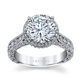 Tacori Platinum Diamond Engagement Ring Setting 1 1/4 ct. tw.