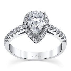 Divine 14k White Gold Diamond Engagement Ring Setting 1/3 ct. tw.