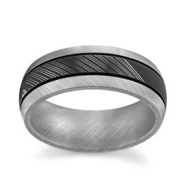 Lashbrook Damascus Steel 8 mm Wedding Band