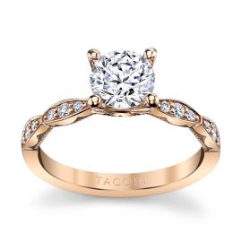 Tacori 18k Rose Gold Diamond Engagement Ring Setting 1/7 ct. tw.