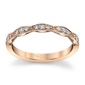 Tacori 18k Rose Gold Diamond Wedding Band 1/6 ct. tw.