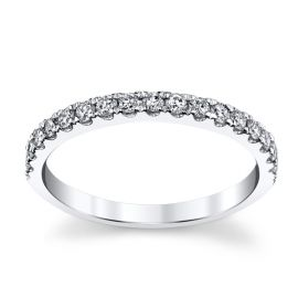 14k White Gold Diamond Wedding Band 1/3 ct. tw.