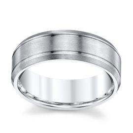 14k White Gold 7 mm Wedding Band