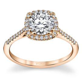 Coast Diamond 14k Rose Gold Diamond Engagement Ring Setting 1/6 ct. tw.