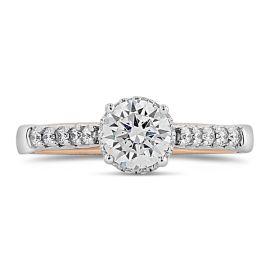 Verragio 14k White Gold and 14k Rose Gold Diamond Engagement Ring Setting 1/3 ct. tw.