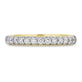 Verragio 14k White Gold and 14k Rose Gold Diamond Wedding Band 1/3 ct. tw.