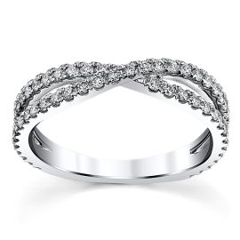 14k White Gold Diamond Wedding Band 1/2 ct. tw.