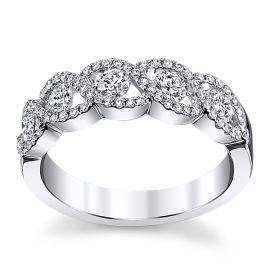 14k White Gold Diamond Wedding Ring 3/4 ct. tw.