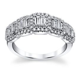 14k White Gold Diamond Wedding Ring 5/8 ct. tw.