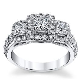 Utwo 14k White Gold Diamond Engagement Ring 2 ct. tw.