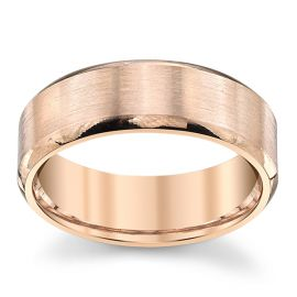 Novell 14k Rose Gold 7 mm Wedding Band