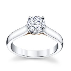 RB Signature 14k White Gold and 14k Rose Gold Engagement Ring Setting