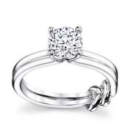 RB Signature 14k White Gold Engagement Ring Setting