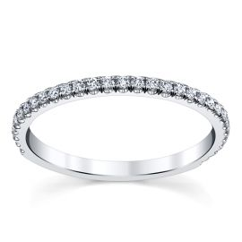 Suns and Roses 14k White Gold Diamond Wedding Band 1/5 ct. tw.