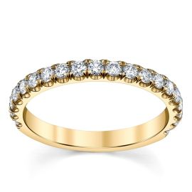 Suns and Roses 14k Yellow Gold Diamond Wedding Band 1/2 ct. tw.