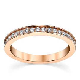 RB Signature 14k Rose Gold Diamond Wedding Band 1/3 ct. tw.