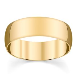 14k Yellow Gold 7 mm Wedding Band