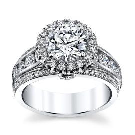 Michael M. 18k White Gold Diamond Engagement Ring Setting 1 1/3 ct. tw.