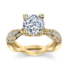 Tacori 18k Yellow Gold Diamond Engagement Ring Setting 3/8 ct. tw.