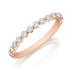 Henri Daussi 18k Rose Gold Diamond Wedding Band 3/8 ct. tw.