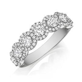 Henri Daussi 18k White Gold Diamond Wedding Band 1 1/2 ct. tw.