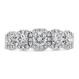 Henri Daussi 14k White Gold Diamond Wedding Band 1 1/4 ct. tw.