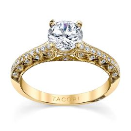 Tacori 18k Yellow Gold Diamond Engagement Ring Setting 1/5 ct. tw.