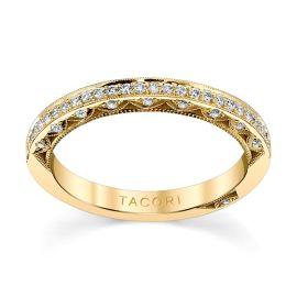 Tacori 18k Yellow Gold Diamond Wedding Band 1/5 ct. tw.