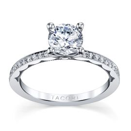 Tacori 18k White Gold Diamond Engagement Ring Setting 1/6 ct. tw.