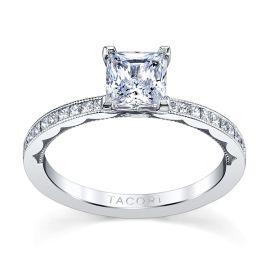 Tacori 18k White Gold Diamond Engagement Ring Setting 1/4 ct. tw.