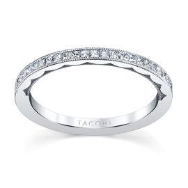 Tacori 18k White Gold Diamond Wedding Band 1/3 ct. tw.