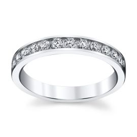 RB Signature 14K White Gold Diamond Wedding Ring 1/2 Cttw.