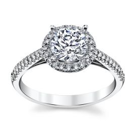 RB Signature 14k White Gold Diamond Engagement Ring Setting 1/6 ct. tw.