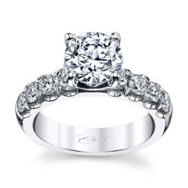 Coast Diamond 14k White Gold Diamond Engagement Ring Setting 7/8 ct. tw.