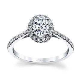 Coast Diamond 14k White Gold Diamond Engagement Ring Setting 1/4 ct. tw.
