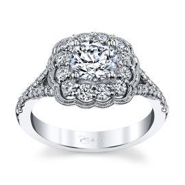 Coast Diamond 14k White Gold Diamond Engagement Ring Setting 5/8 ct. tw.