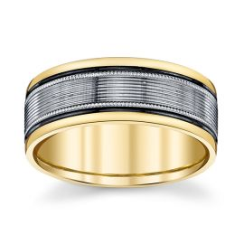Novell 14k Yellow Gold and 14k White 8 mm Wedding Band