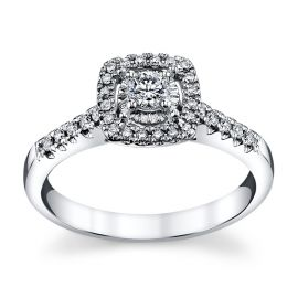 Cherish 14k White Gold Diamond Engagement Ring 1/3 ct. tw.