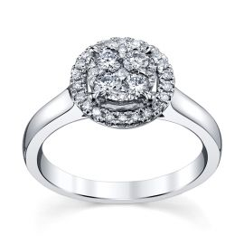 Cherish 14k White Gold Diamond Engagement Ring 1/2 ct. tw.