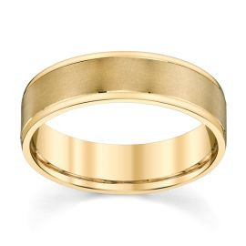 14k Yellow Gold 6 mm Wedding Band